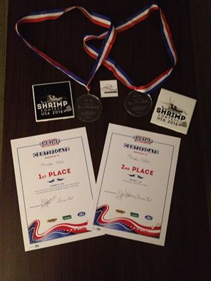 1st and 2nd place at the international shrimp contest  in Chicago